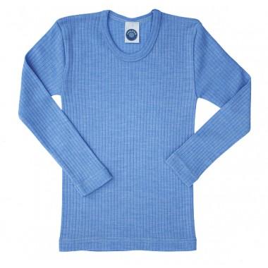 """Cosilana, Кофта з довгим рукавом дитяча """"потрійне якість"""" (45% бавовни, 20% шовку, 35% вовни), Колір: Блакитний"""