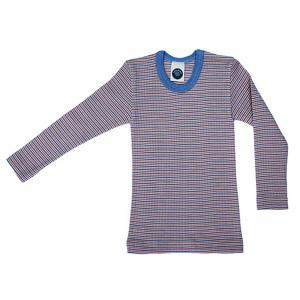"""Cosilana, Кофта с длинным рукавом детская """"тройное качество"""" (45% хлопка, 20% шелка, 35% шерсти), Цвет: Голубой/Натур/Оранжевый"""