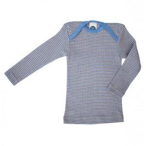 """Cosilana, Кофточка з довгим рукавом """"потрійне якість"""" (45% бавовни, 20% шовку, 35% вовни), Колір: Смуги блакитні і помаранчеві"""