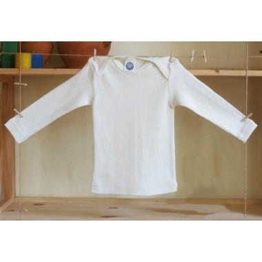 Cosilana, Кофточка з довгим рукавом з шелко-вовни (30% шовку, 70% вовни), Колір: Натуральний
