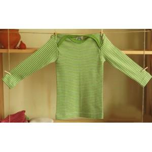 Cosilana, Кофточка с длинным рукавом из шелко-шерсти (30% шелка, 70% шерсти), Цвет: Зеленый/натур
