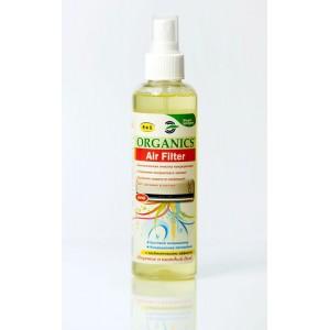 Organics Air filter, Биологическая очистка систем вентиляции и кондиционирования воздуха, устранение неприятных запахов, спрей, флакон, объем 200 мл