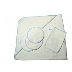 Disana, Купальный набор №2 (полотенце с капюшоном, мочалка-рукавичка 3шт, спонжики 3шт)