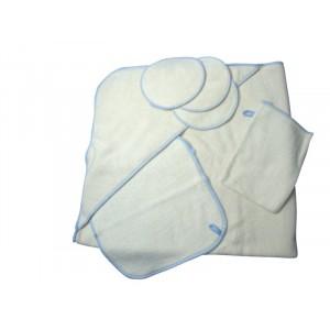 Disana, Купальный набор №3 (полотенце с капюшоном, мочалка-рукавичка 3 шт, спонжики 3 шт, полотенечко 3 шт)