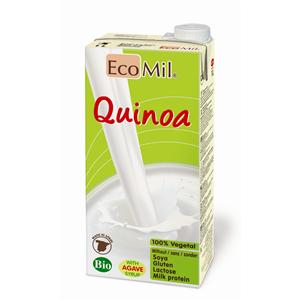 ECOMIL, Органічне рослинне молоко з кіноа з сиропом агави і мигдальним маслом, 1000мл