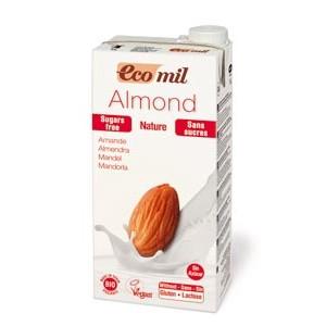 ECOMIL, Органическое растительное молоко из миндаля БЕЗ САХАРА, 1000мл