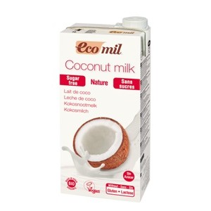ECOMIL, Органическое растительное молоко из КОКОСА без сахара, 1000мл
