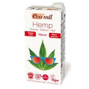 ECOMIL, Органічне рослинне молоко з конопель без цукру, 1000мл