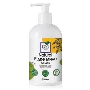 ECO KRASA, Натуральне рідке мило «Східне» з оливковою олією, екстрактами гінкго, лавра, ефірною олією іланг-ілангу, 350мл