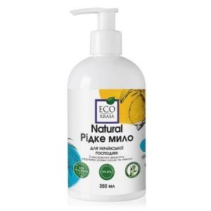 ECO KRASA, Натуральное жидкое мыло «Для украинского хозяйки» С маслом авокадо, экстрактами гинкго, эвкалипта, эфирными маслами сосны и лимона, 350мл