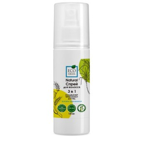 ECO KRASA, Натуральний спрей для волосся 3в1: кондиціонер, термозахист та догляд для всіх типів волосся, 120мл