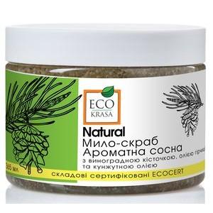 """ECO KRASA, Натуральное мыло-скраб """"Ароматная сосна"""" для бани и сауны, 365мл"""