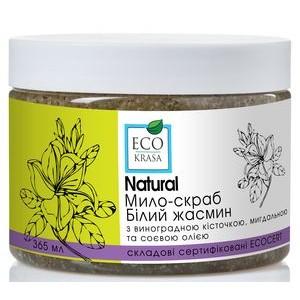 "ECO KRASA, Натуральное мыло-скраб ""Белый жасмин"", 365мл"