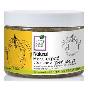 "ECO KRASA, Натуральное мыло-скраб ""Вкусный грейпфрут"", 365мл"