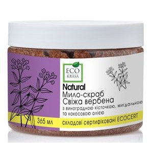 "ECO KRASA, Натуральное мыло-скраб ""Свежая вербена"", 365мл"