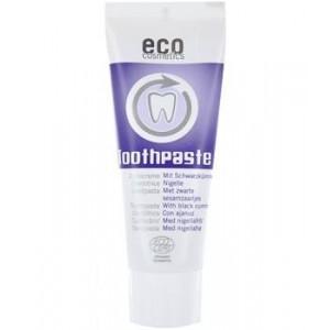 ECO cosmetics, Зубная паста с Черным тмином – свежесть и уход без перечной мяты, также подходит для детей от 1 года, Эко косметикс Toothpaste, 75 мл