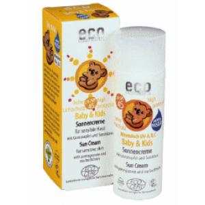 ECO cosmetics, Детский крем для загара с экстрактом граната и облепихи SPF 45, 50 мл