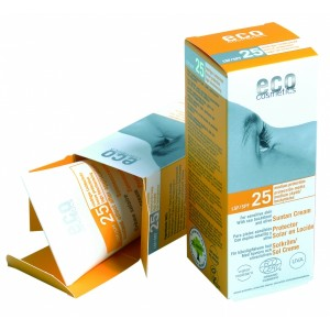 ECO cosmetics, Крем для загара с экстрактом облепихи и листа оливкового дерева SPF 25, 75 мл