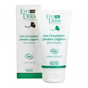 EffiDerm Corps Гель, що поліпшує кровообіг, для втомлених ніг «заморожує ефект» органічний / Gel Circulation Jambes l? G? Res «Effet Glacial» BIO, 125 мл