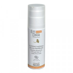 EffiDerm Visage, Эксфолиант, улучшающий цвет кожи, дермо-баланс органический / Exfoliant Lumineux Dermo-Equilibrant bio, 50 мл