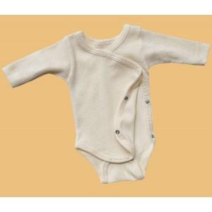 Engel, Боди с длинным рукавом на кнопках из шелко-шерсти (30/70), Цвет: Бежевый