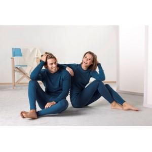 Engel, Мужская спортивная кофта с длинным рукавом, шерсть/шелк, Цвет: Светлый океан