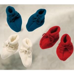 Engel, Тапочки для малыша из 100% шерсти-флис на завязках