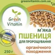 Green Vitamin, ПШЕНИЦА м'яка для пророщування органічного походження, 250гр