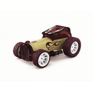 """HAPE, Деревянная игрушка Машинка из бамбука """"BRUISER"""" Eco-design, возраст от 3-х до 99 лет, цвет бордовый"""