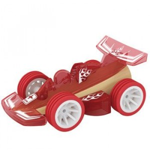 """HAPE, Деревянная игрушка Машинка из бамбука """"RASER"""" Eco-design, возраст от 3-х до 99 лет, цвет красный"""