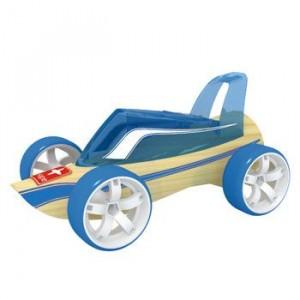 """HAPE, Деревянная игрушка Машинка из бамбука """"ROADSTER"""" Eco-design, возраст от 3-х до 99 лет, цвет голубой"""