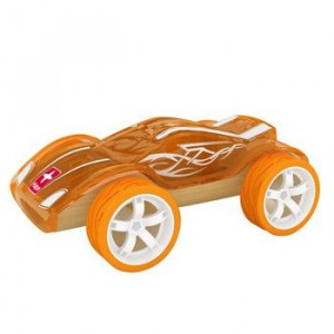 """HAPE, Деревянная игрушка Машинка из бамбука """"TWIN TURBO"""" Eco-design, возраст от 3-х до 99 лет, цвет оранжевый"""