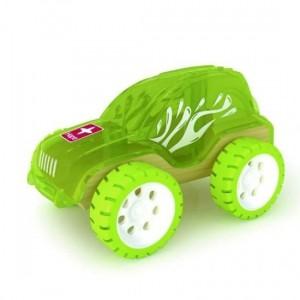 """HAPE, Деревянная игрушка Машинка из бамбука """"TRAILBRASER"""" Eco-design, возраст от 3-х до 99 лет, цвет салатовый"""