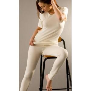 Hocosa, Жіночі легінси Спорт з шелко-вовни (30% шовк, 70% органічна мериносова шерсть), Колір: Натуральний