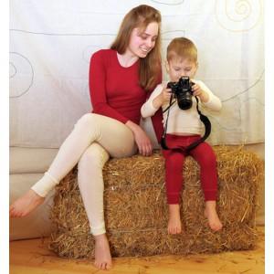 Hocosa, Жіноча кофта з 100% вовни з круглою горловиною, Колір: Червоний