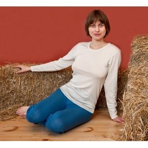 Hocosa, Жіноча кофта з шелко-вовни (30% шовк, 70% органічна мериносова шерсть) з круглою горловиною, Колір: Натуральний