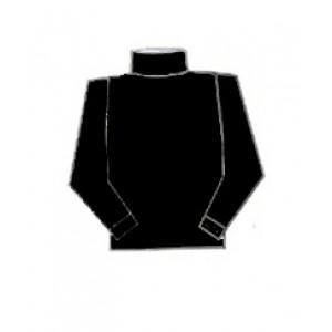 Hocosa, Жіночий гольф з шелко-вовни (30% шовк, 70% органічна мериносова шерсть), Колір: Чорний