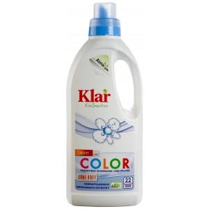 KLAR, Клара Органічна рідина для прання кольорових тканин 30-90 ° Basis-Sensitive Klar, 1 л = 22 прання