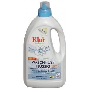 KLAR, Клара Органічний засіб для прання Мильна горіх 20-95 ° з екстрактом мильного горіха Waschnuss-flussig Klar, 1,5 л = 50 прань