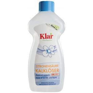 KLAR, КЛАР Органическая жидкость для удаления накипи Zitronensaeure-Kalkloser Klar, 500 мл