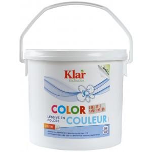 KLAR, Клара Органічний Універсальний пральний порошок з екстрактом мильного горіха 30 ° - 95 ° Vollwaschmittel Klar, 2,475 кг = 45 прань