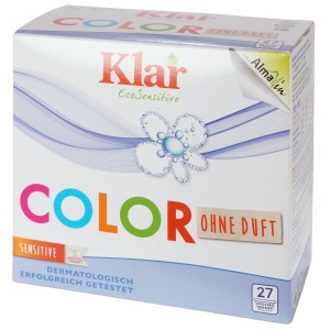 KLAR, Клара Органічний пральний порошок для кольорової білизни Колор 30 ° - 60 ° Basis Compact Color Klar, 1,375 кг = 27 прань