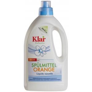 KLAR, Клара Органічний засіб для миття посуду Апельсин Spuelmittel-Orange Klar, 1500 мл = 750 застосувань