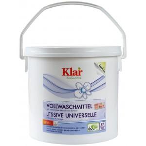 KLAR, Клара Органічний Універсальний пральний порошок з екстрактом мильного горіха 30 ° - 95 ° Vollwaschmittel Klar, 4,4 кг = 80 прань