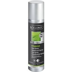 Logona, БІО-Дезодорант-спрей для чоловіків Кофеїн і Гінкго, 100 мл
