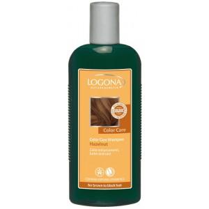 Logona, БИО-Шампунь для окрашенных темно-коричневых волос Орех, 250 мл