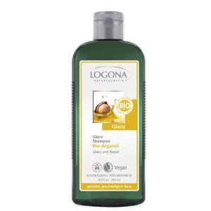 Logona, БІО-Шампунь Блиск і відновлення для пошкодженого волосся з аргановою олією, 250 мл