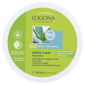 Logona, БІО-Крем для нормальної і сухої шкіри обличчя і тіла з Алое і Вербеною (для всієї родини), 150мл