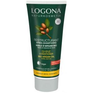 Logona, БИО-Кондиционер Блеск и Восстановление для поврежденных волос с Аргановым маслом, 200 мл