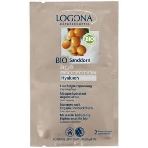 Logona, БИО-Маска для глубокого увлажнения кожи, против морщин, 2*7,5 мл (двойное саше)